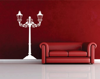 Large Lamp Post vinyl wall decal FREE SHIPPING