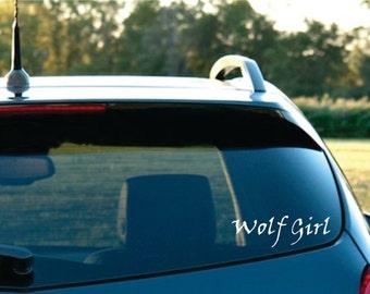 Wolf Girl Vinyl car Decal  FREE SHIPPING