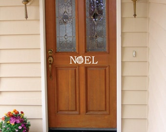 Christmas Noel Front Door Decal  FREE SHIPPING
