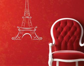 Eiffel Tower Removable Vinyl Decal  FREE SHIPPING