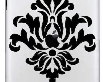 Damask  iPad/iPad 2 Vinyl Decal  FREE SHIPPING