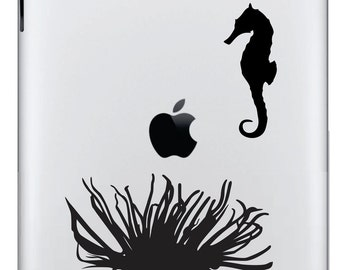 Anemone with Seahorse Ipad Decal FREE SHIPPING
