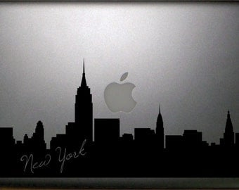"New York Skyline Macbook 15"" Decal Vinyl Sticker Laptop"