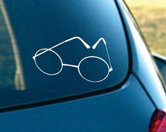 Glasses  Vinyl  Car Decal  FREE SHIPPING