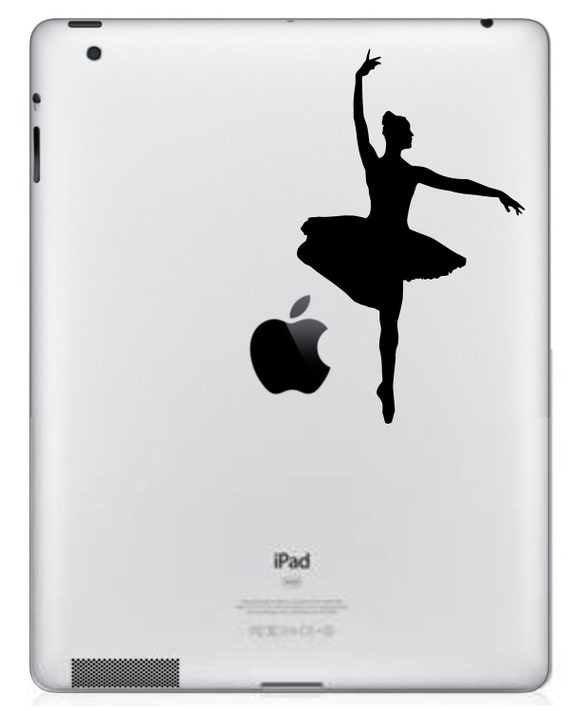 Ballerina iPad/iPad 2 Vinyl Decal  FREE SHIPPING