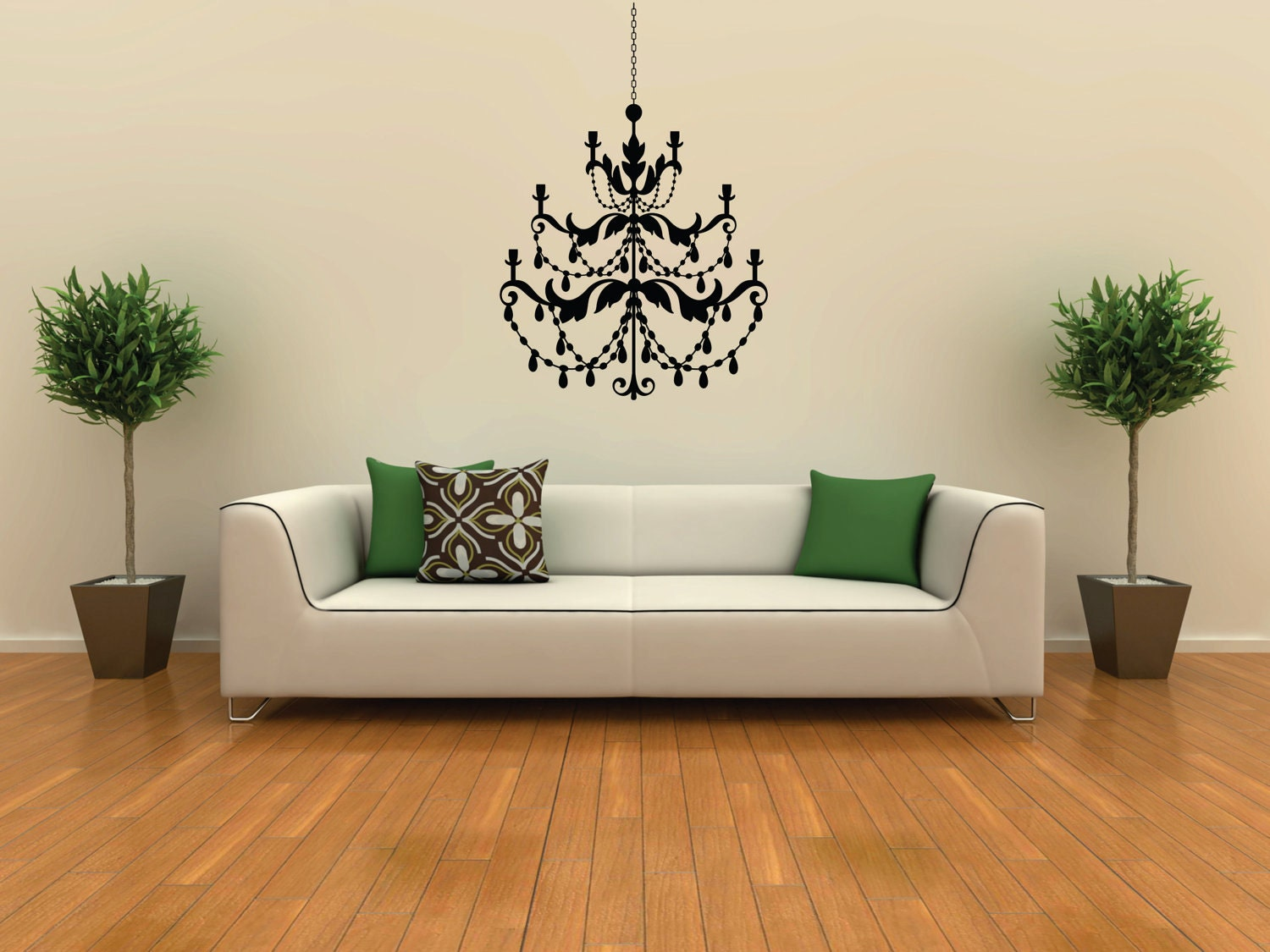 Large chandelier vinyl removable wall decal free shipping zoom aloadofball Gallery