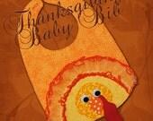 TURKEY BABY Bib - Downloadable PDF Pattern