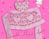 Adorable HEART APRON - PDF Downloadable