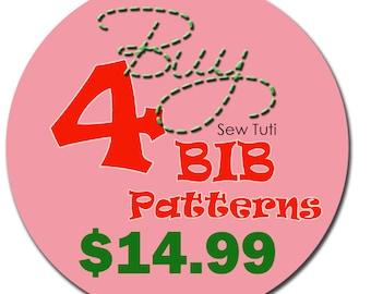 Buy Any 4 Bib Patterns - PDF Patterns