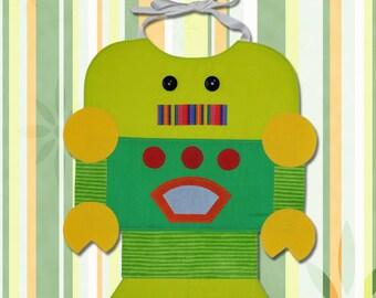 ROBOT Toddler Bib - PDF Pattern