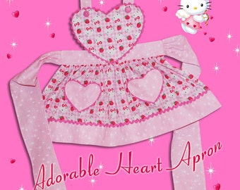 Adorable HEART APRON - PDF Downloadable