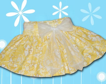 SKIRT with SASH sizes 6 Month  through Size 6 - PDF Downloadable Sewing Tutorial