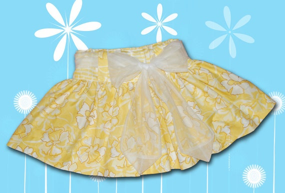 SKIRT with SASH sizes 6 Month  through Size 6 - PDF Downloadable Sewing Pattern