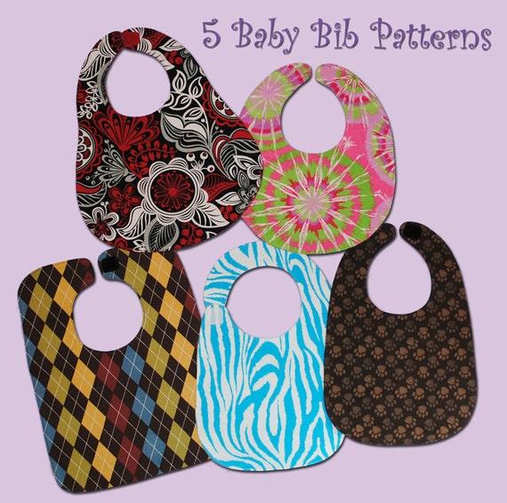 5 BASIC BABY Bibs - PDF Pattern
