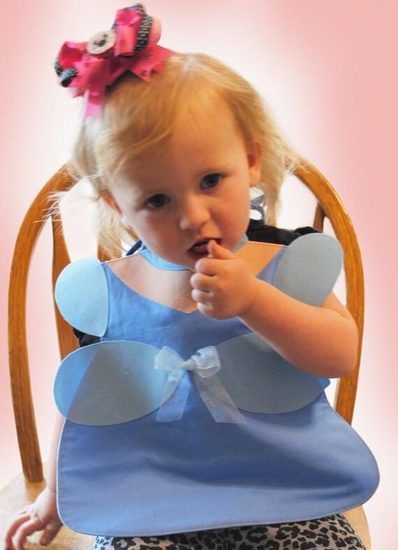 Blue Princess Toddler Bib - PDF Pattern