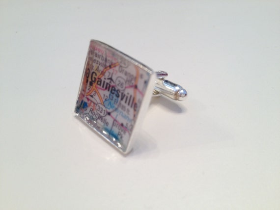 Custom city map cuff links-Great Father's Day gift