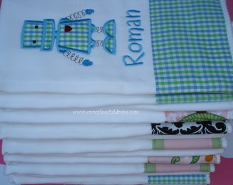 Monogrammed Burp Cloth - Custom, Personalized & Designed by You.