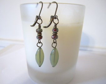 Oval - Spindle Bead Earrings