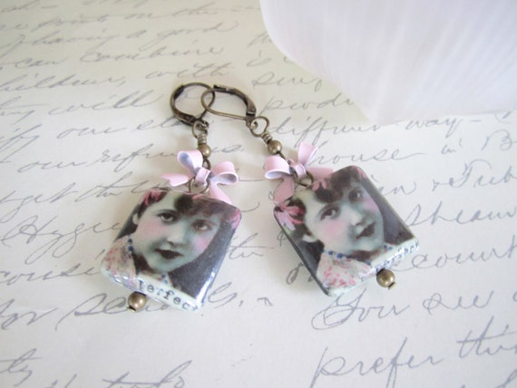 Photo (Picture) Bead Earrings