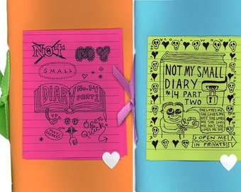 Not My Small Diary zine #14 - The Dating Issue - autobio comics anthology