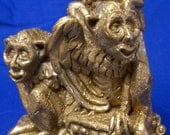 Gold Gothic Medieval Gargoyle Wind-chime made by United Design Corp.