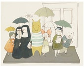 Umbrella Parade 8.5x11