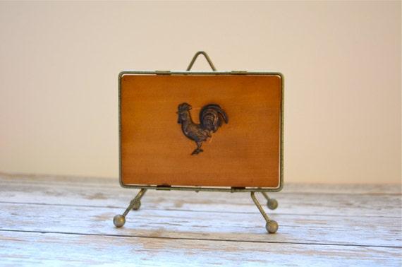 vintage rooster napkin holder