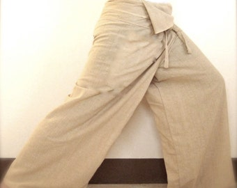 Thai Fisherman Pants-  Kona Cotton Parchment