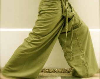 Thai Fisherman Pants- Lime Kona Cotton