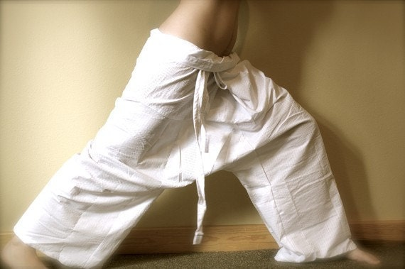 Thai Fisherman Pants- White Kona Cotton