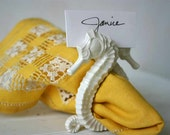 Seahorse Napkin Ring and Placecard Holder (Set of 16)