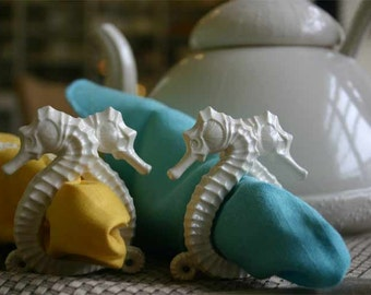 Seahorse Napkin Ring and Placecard Holder (Set of 2)