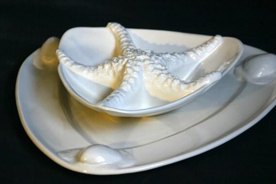 Porcelain Clam Shell Platter