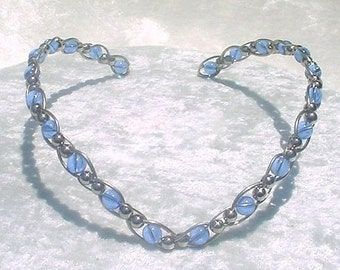 Ice Blue Gypsy Diadem Circlet