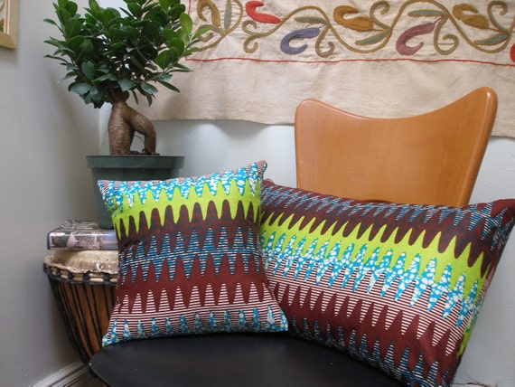50% OFF MISSONI-Inspired Wax print Throw Pillows