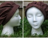 Linen Peasant Hat - Brown - Adult-sized