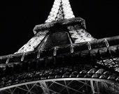 Photograph: Eiffel Tower at Night  - Paris, France - A Very Noir Night - Fine art 8x10 photo