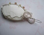 SHELL wrapped in wire pendant