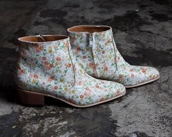Flower Pattern Boots