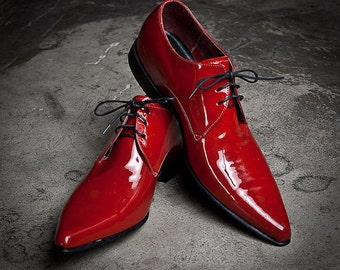 Derby Red Leather