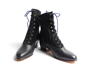 1920's vintage inspired lace up boots - FREE WORLDWIDE SHIPPING