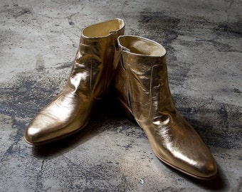 golden beatle boots  - FREE SHIPPING