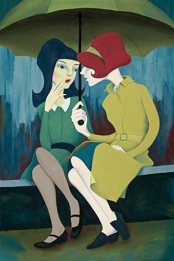 Gossip Like Wildfire - 8x12 Print