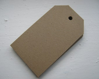 100 Kraft Brown Shipping Tags Rectangle or Shape of Your Choice for Personalizing Gifts, Stamping or Price Tags