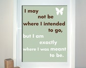 Meant to Be, Inspirational Art, Quote Art Print, Choose your motif and colours, 8 x 10 Print