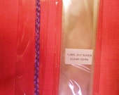 100 Cello Bags for Feathers, Synthetic Hair Braids, Bookmarks etc - 2x12 inch - Cellophane Bags - Bulk Display Bags