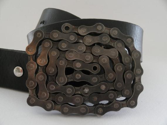 Bike chain belt buckle.
