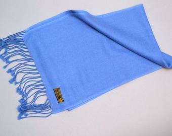 Royal Blue Cashmere Scarf HOP Branded