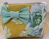 Amy Butler Flower Makup Bag with Dot Bow