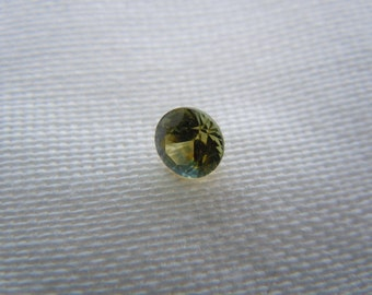 Loose Montana Sapphire Tri Colored Orange/Blue/Green .45 carat Round
